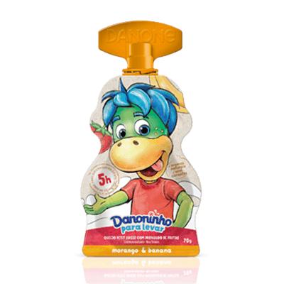 Iogurte infantil para levar morango e banana Danoninho
