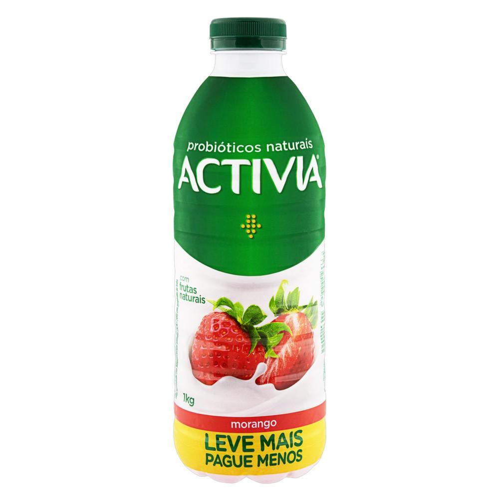 Iogurte probiótico morango