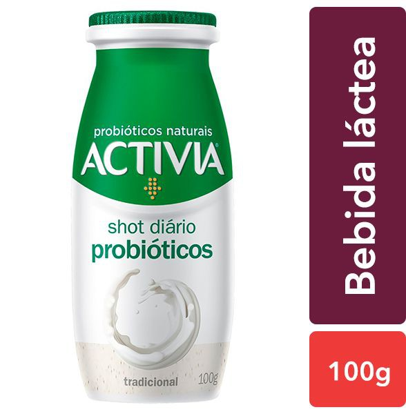 Bebida láctea probiótico shot diário tradicional