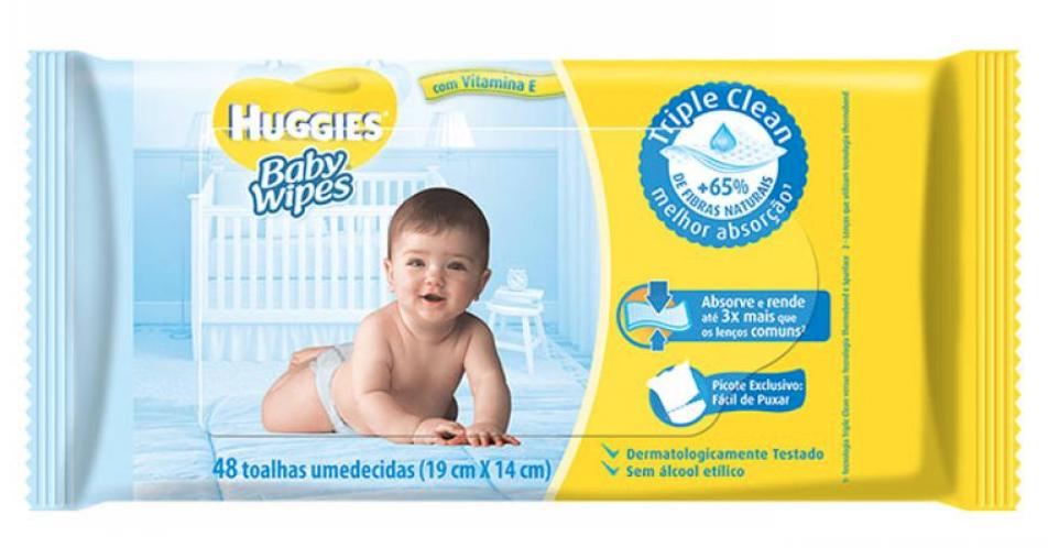 Lenço umedecido Baby Wipes triple clean 48 lenços