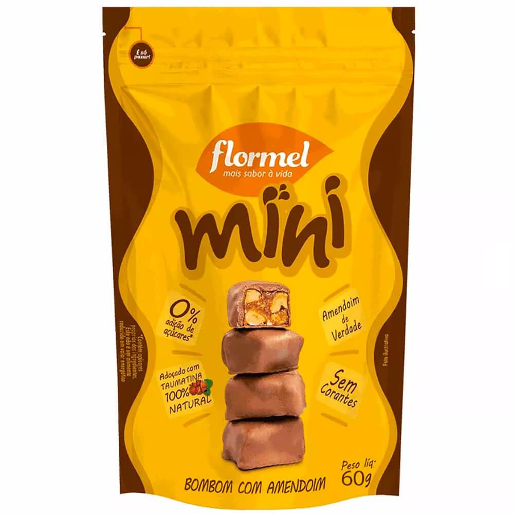 Mini bombom com amendoim