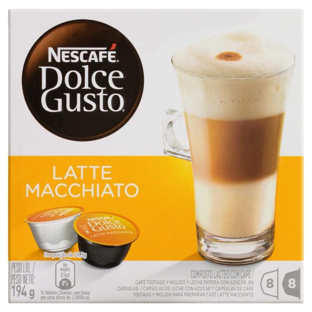 Cápsulas Dolce Gusto Café Latte Macchiato