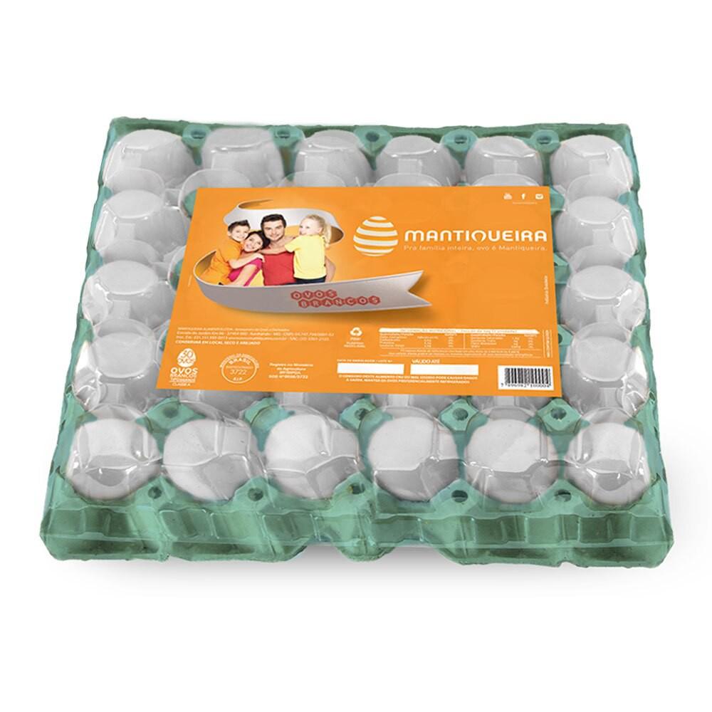 Ovo branco grande 30 unidades