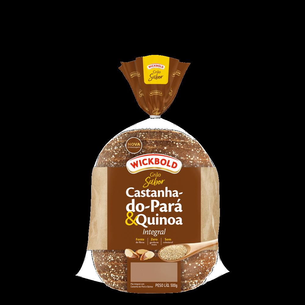 Pão castanha do pará e quinoa