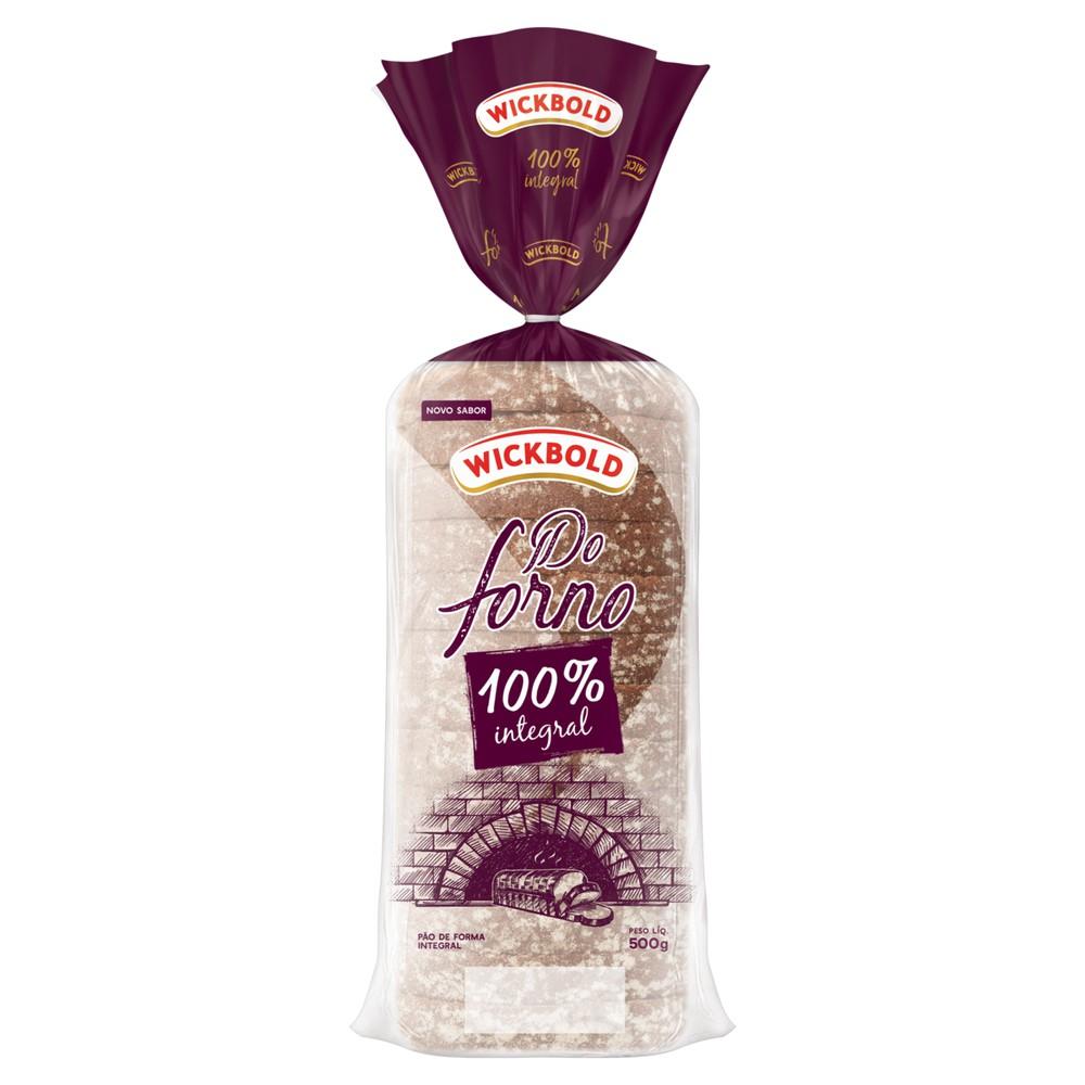 Pão de forma do forno 100% integral