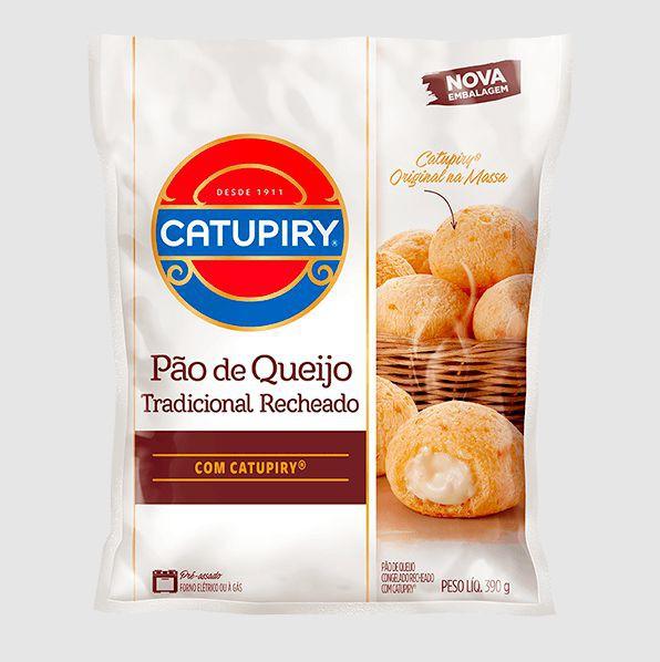 Pão de queijo tradicional recheado com catupiry