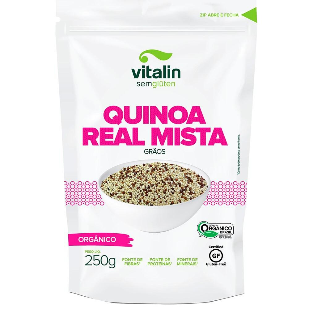 Quinoa real orgânica em grãos mista