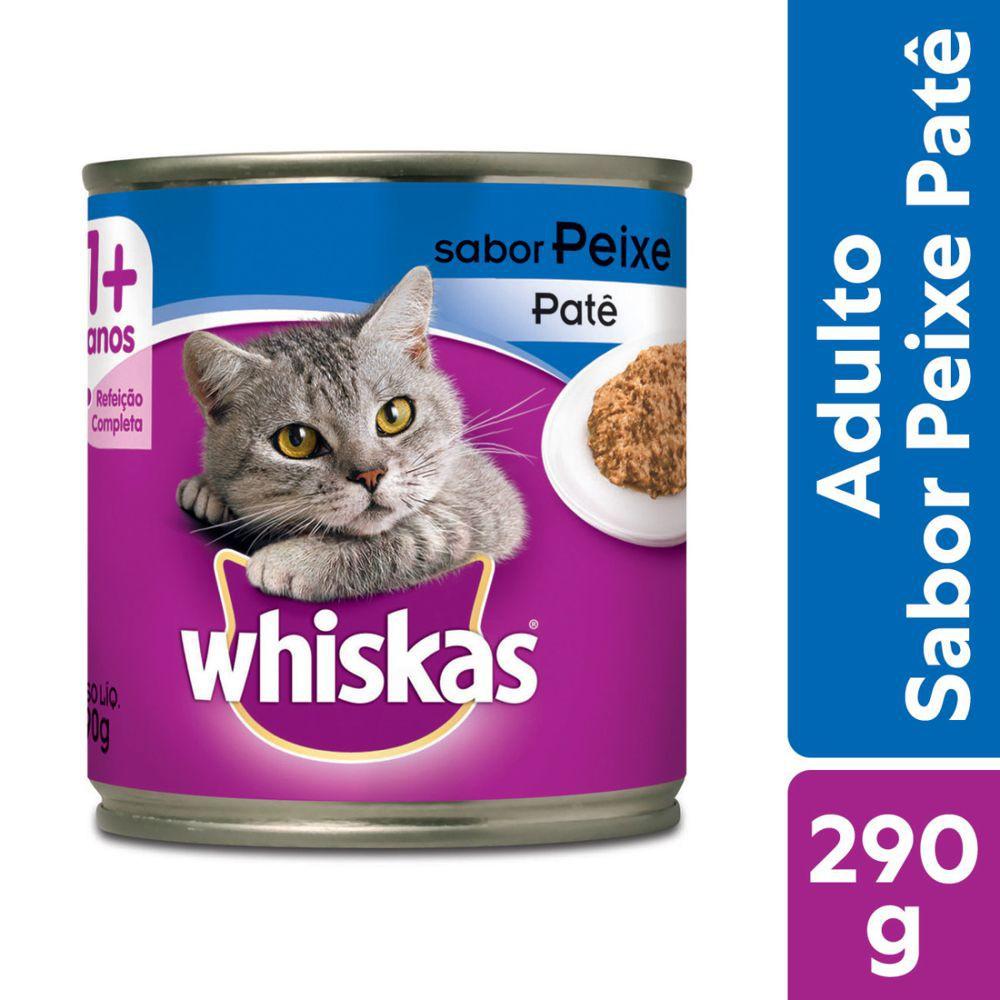 Ração úmida para gatos adultos sabor peixe 290g