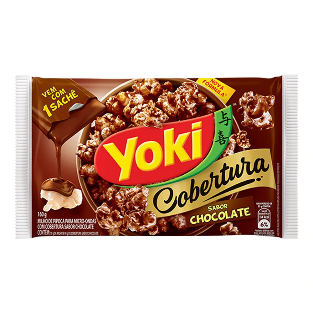 Pipoca micro cobertura chocolate