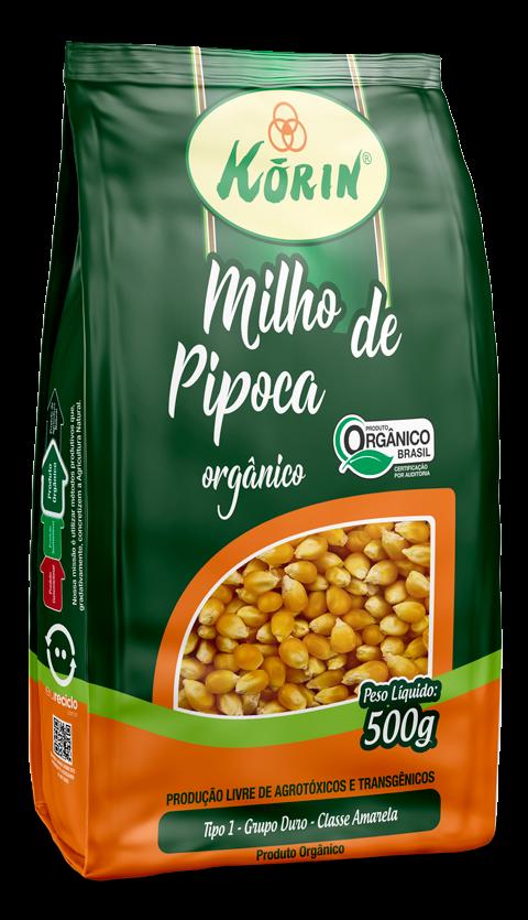 Milho para pipoca orgânico