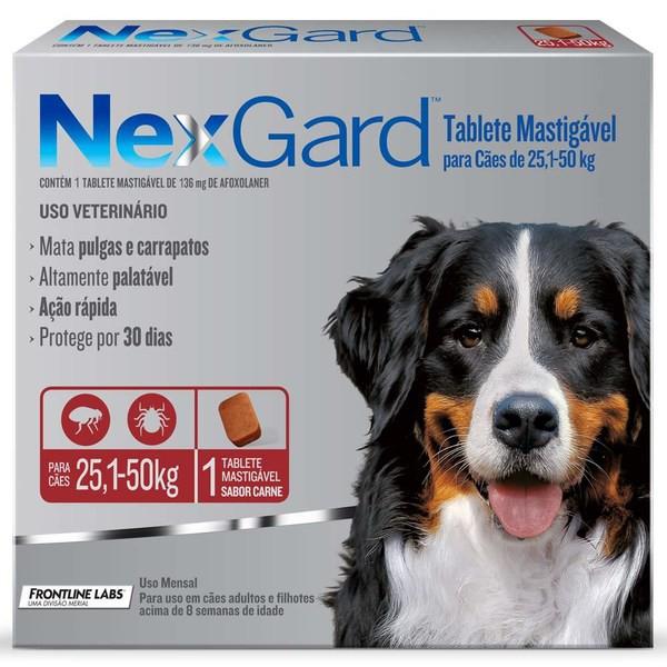 Nexgard para cães de 25,1 a 50kg 1 tablete