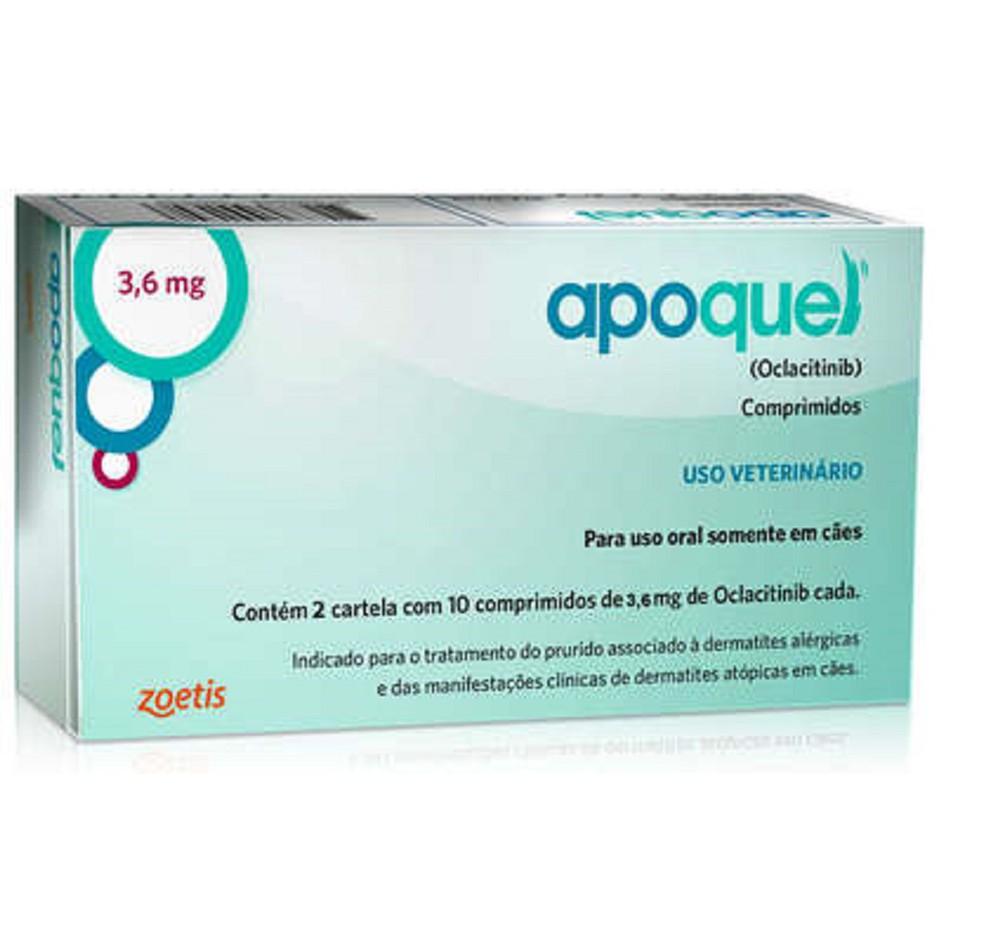 Apoquel dermatológico 3,6mg 20 comprimidos