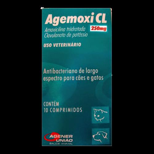 Amoxilina tri hidratada Agemoxi CL 250mg 10 comprimidos