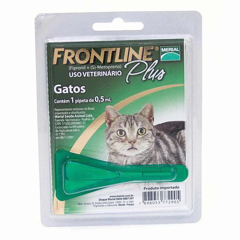 Antipulgas e carrapatos Frontline plus para gatos 0,5ml