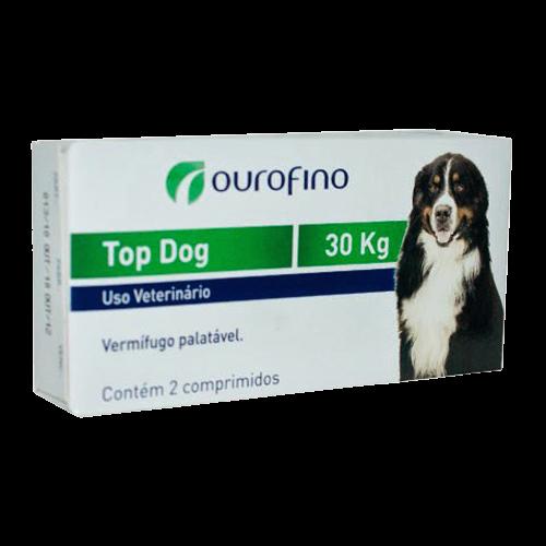 Vermifugo Top Dog  cães até 30kg 2 comprimidos