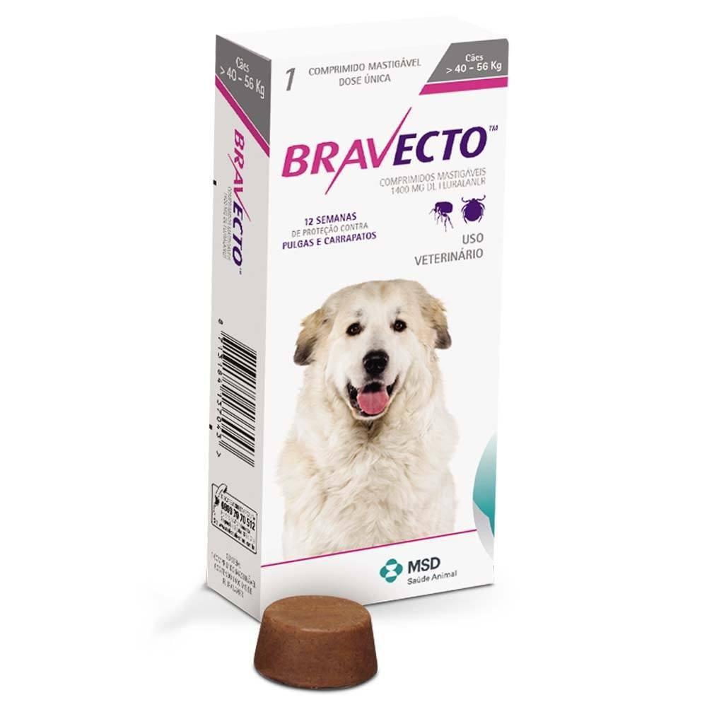 Antipulgas e carrapatos para cães de 40 a 56kg 1 comprimido