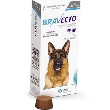 Antipulgas e carrapatos para cães de 20 a 40kg 1 comprimido