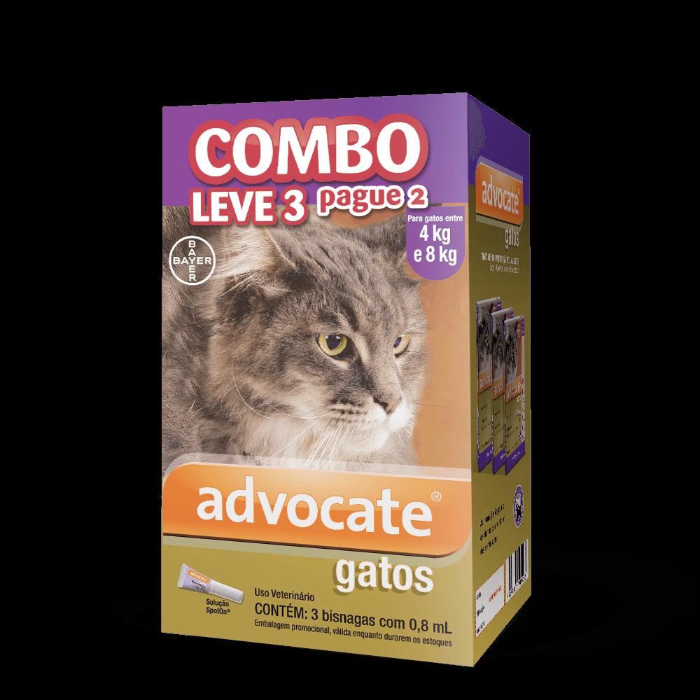 Antipulgas advocate para gatos de 4 a 8kg
