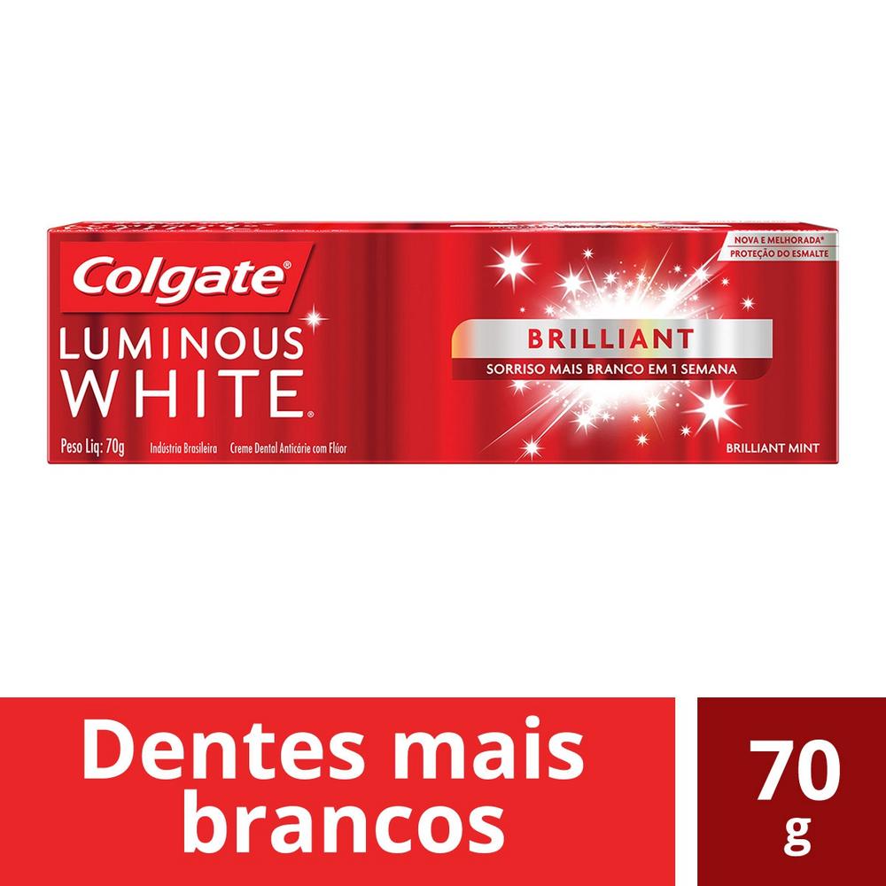 Creme dental luminous white esmalte brilhante