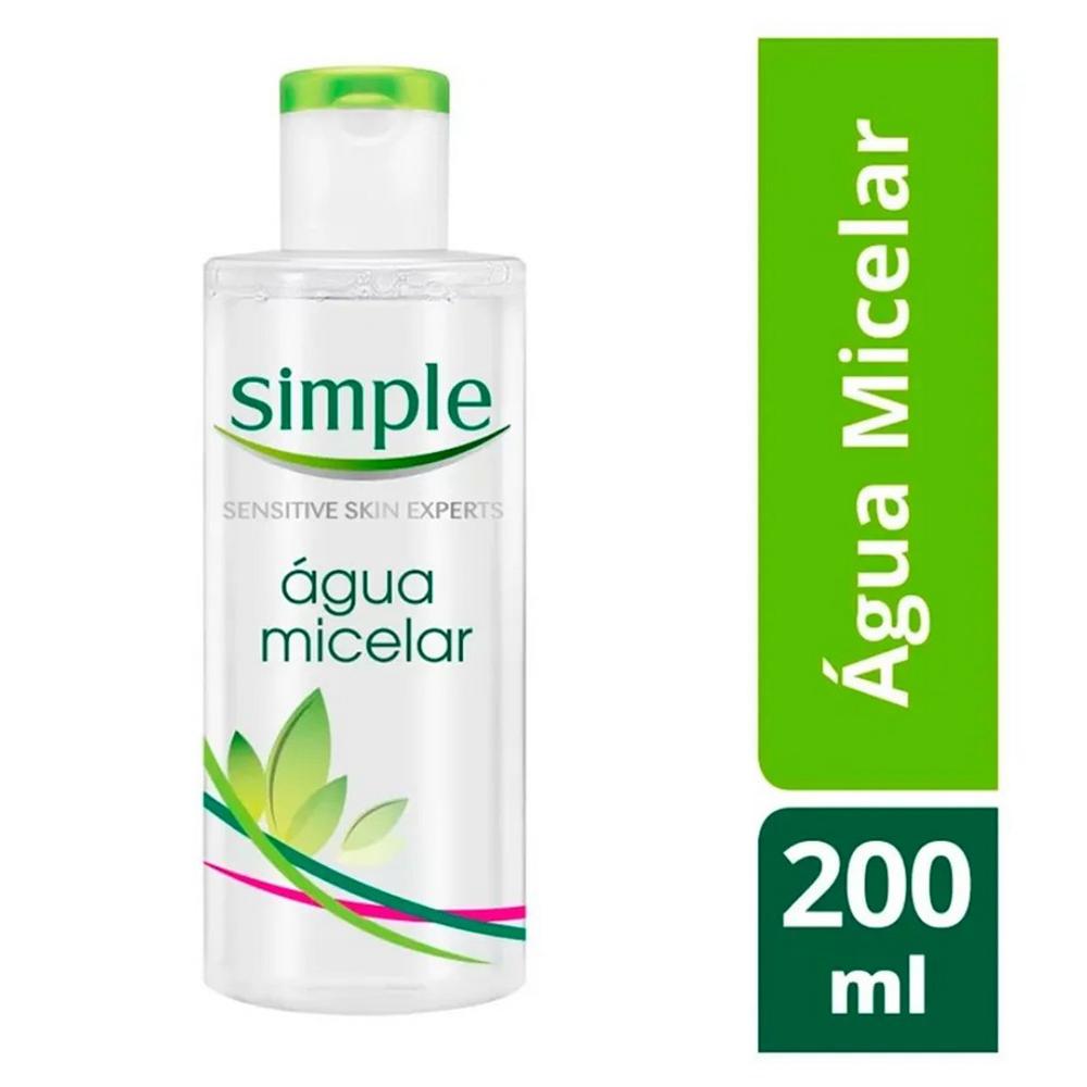 Água Micelar Simple Solução de Limpeza Facial 200ml
