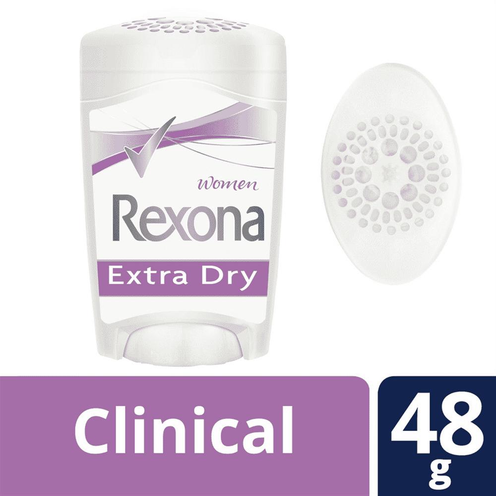 Desodorante feminino em creme clinical clean extra dry