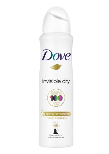 Desodorante aerosol feminino Invisible dry