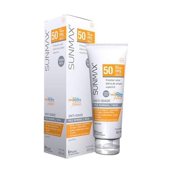Protetor Solar Sunmax Anti-Idade Pele Normal-Seca Fps 50 Stiefel 60ml