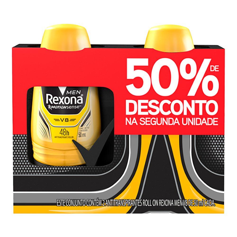 Kit desodorante roll on masculino V8