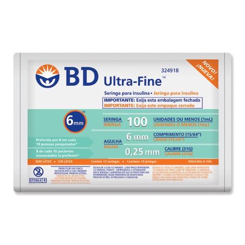 Seringa Insulina BD 1ml 6mm