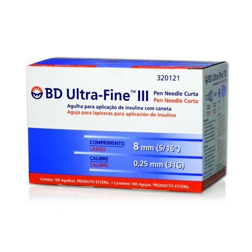 Agulha insulina BD Ultra-Fine 8mm