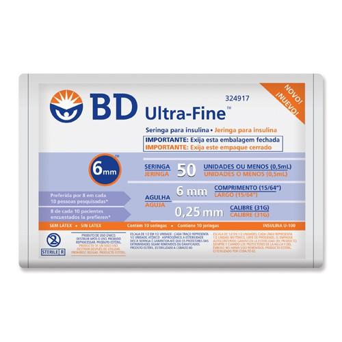 Seringa Insulina BD U-F 6x25
