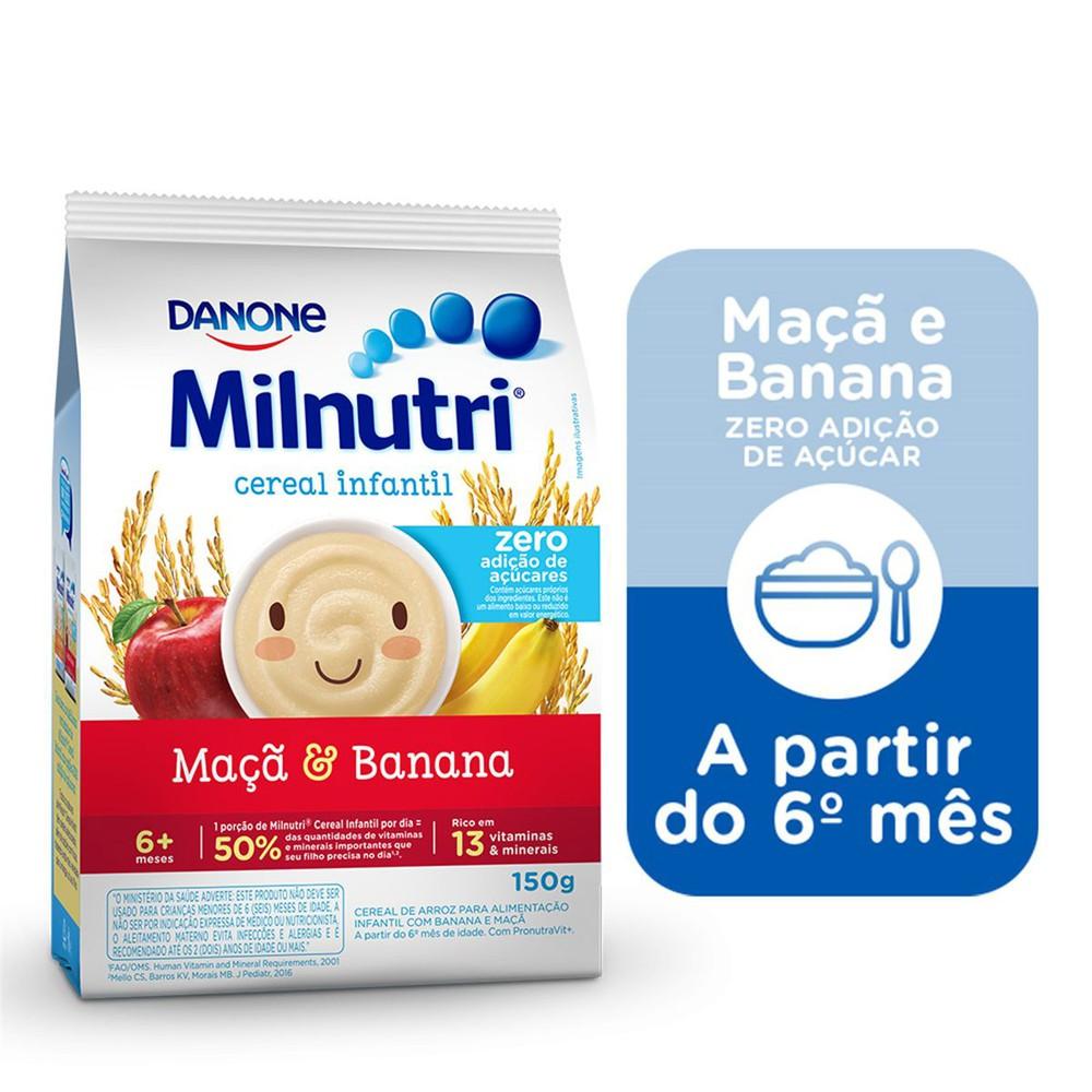 Cereal infantil banana e maçã zero