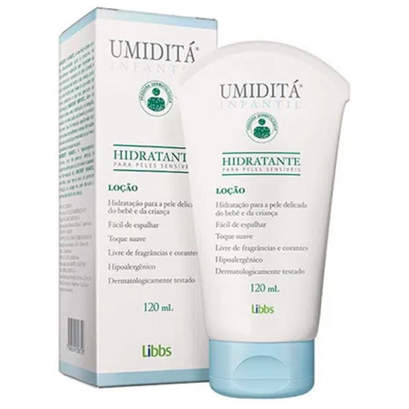 Loção hidratante Umiditá infantil pele sensível