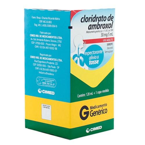Xarope ambroxol adulto genérico 6mg/ml
