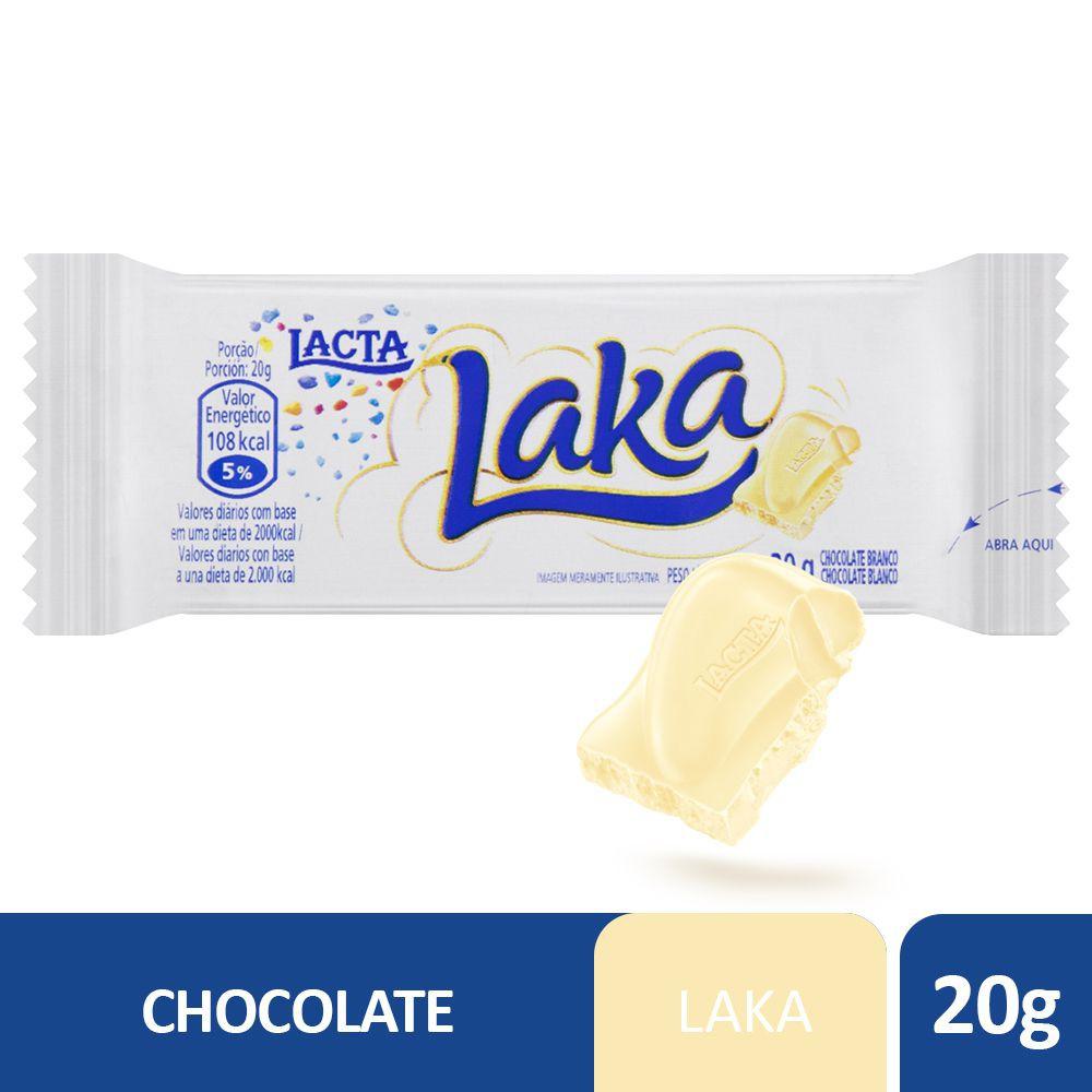 Chocolate branco ao leite Laka 20g
