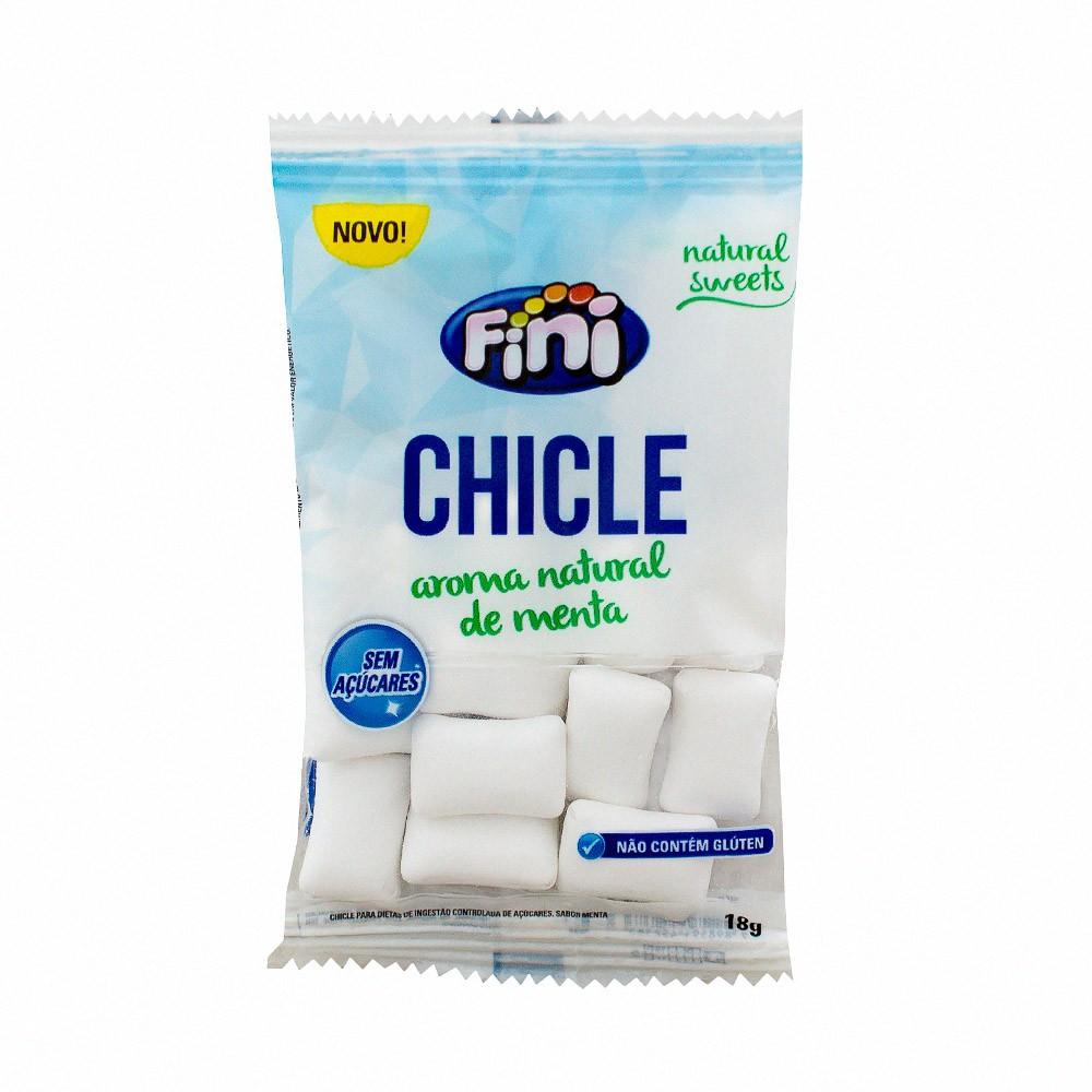 Chicle Fini Natural Sweets Menta Sem Açúcar 18g