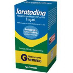 Loratadina xarope 1mg/ml
