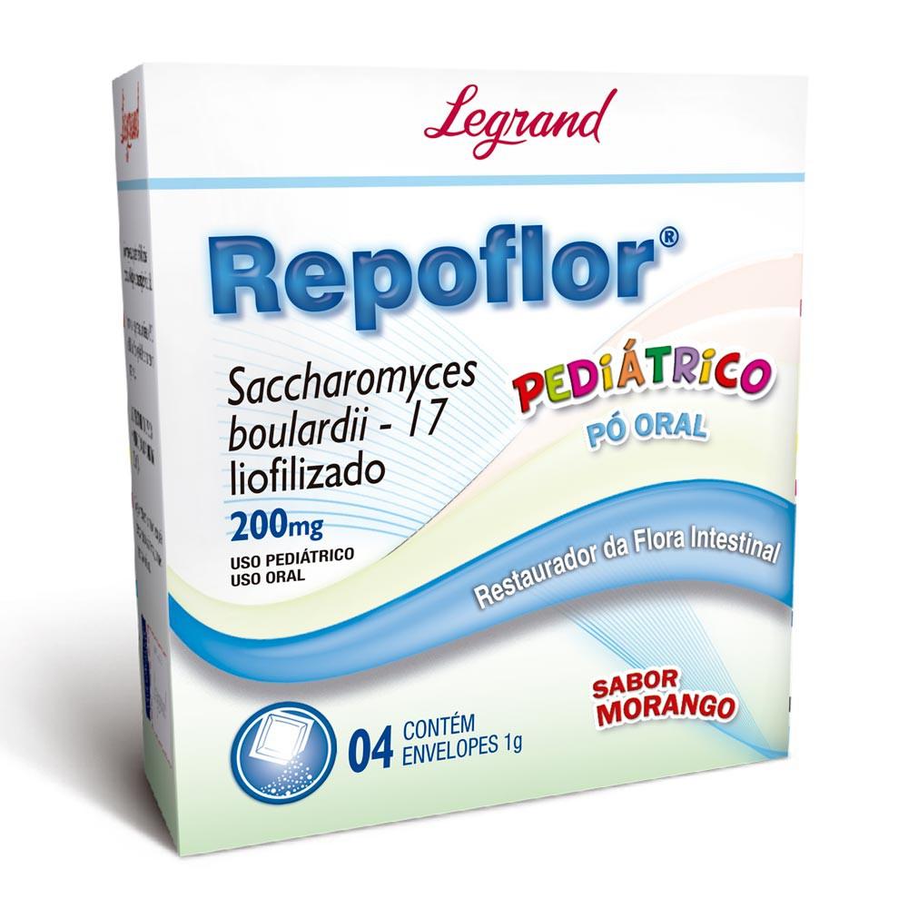 Repoflor 200mg pediátrico sabor morango
