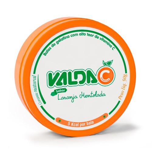 Bala de gelatina vitamina C sabor laranja mentolada