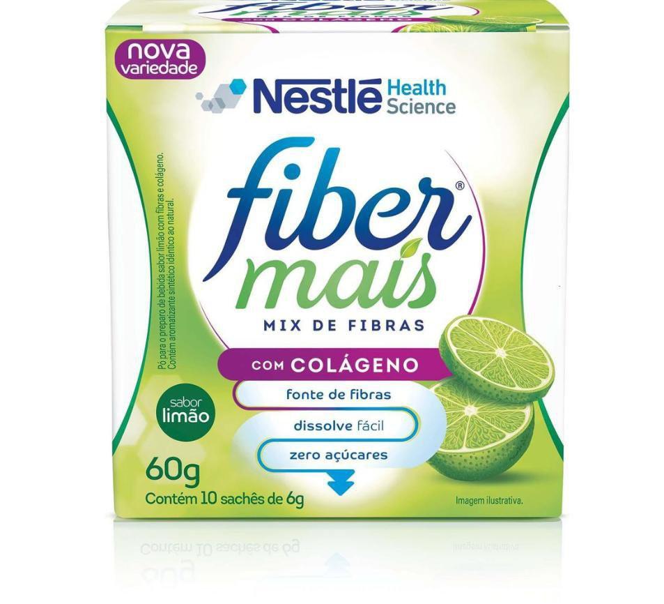 Regulador intestinal colágeno fibras limão