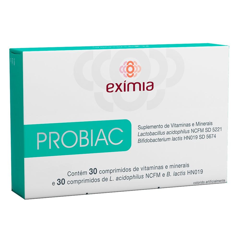 Suplemento de vitaminas e minerais exímia Probiac
