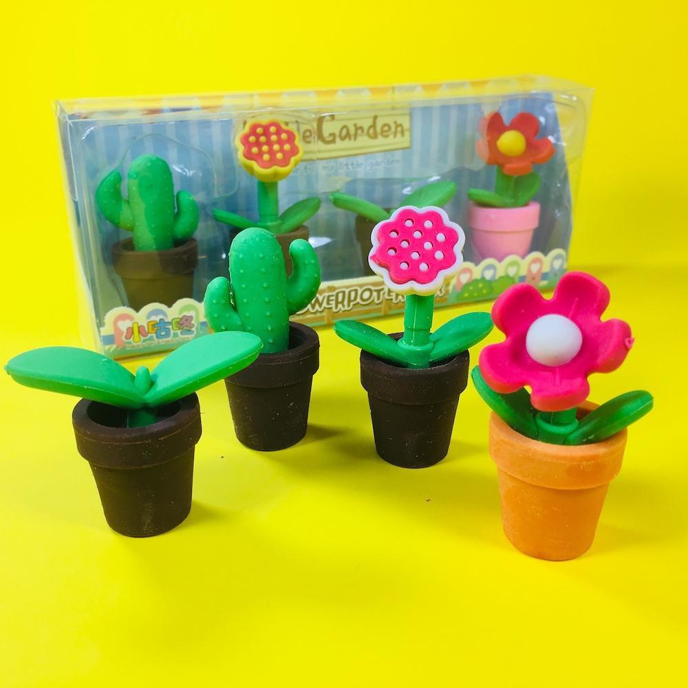 Goma de borrar Little Garden flores y cactus