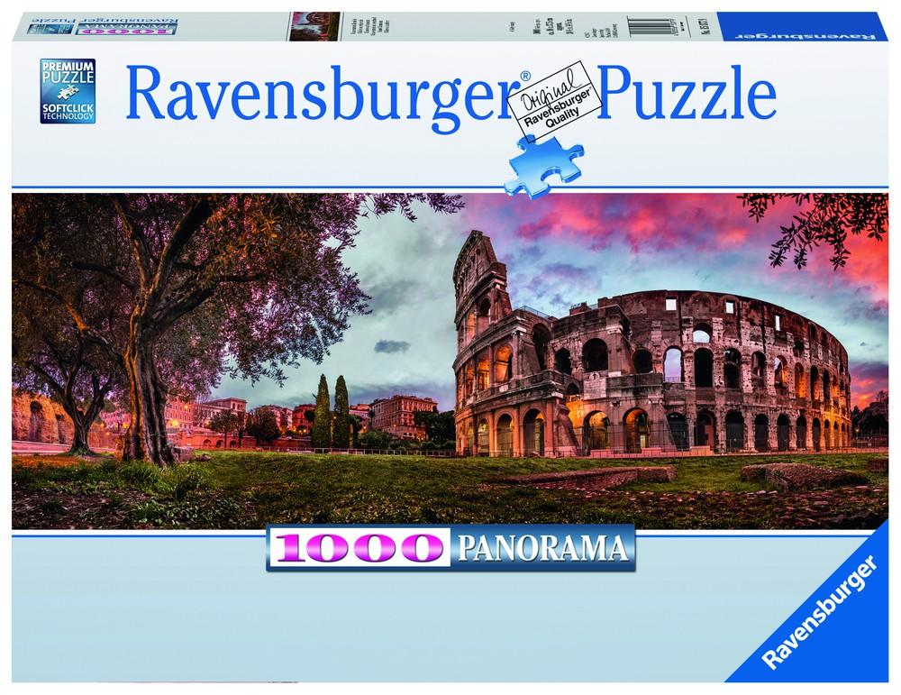 Puzzle panorámico - atardecer en el coliseo