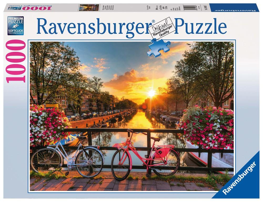 Puzzle bicicletas en amsterdam - 1000 piezas