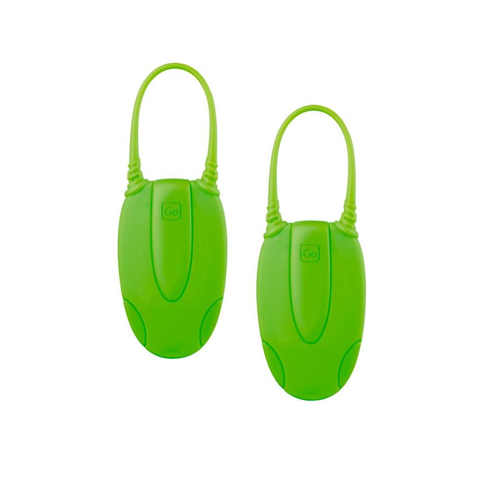 Par de etiq de equipaje glo verde
