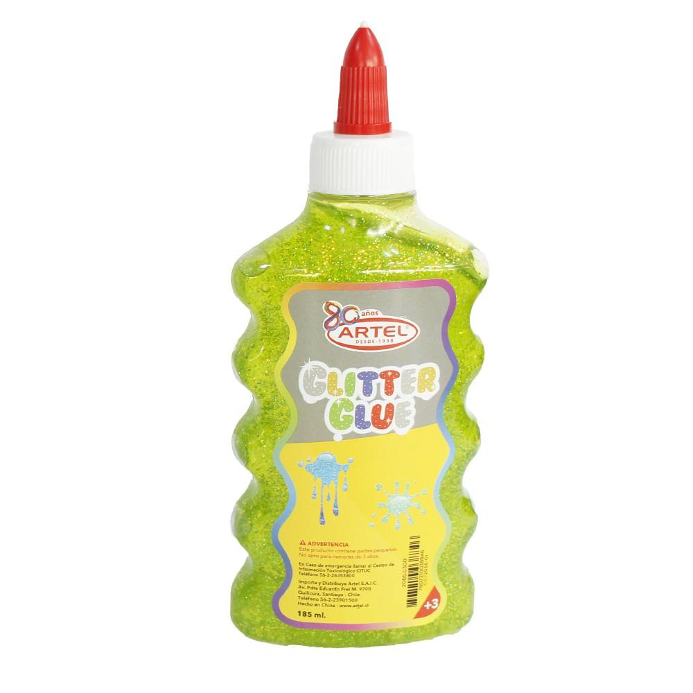 Cola fria glitter glue verde