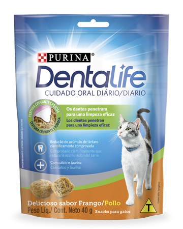 Snack dental para gatos