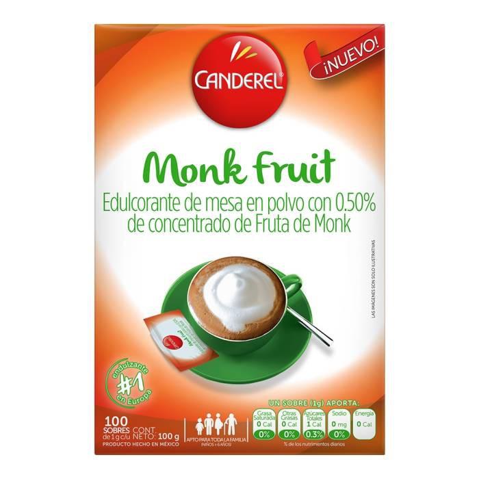 Edulcorante de mesa con concentrado de fruta de monk