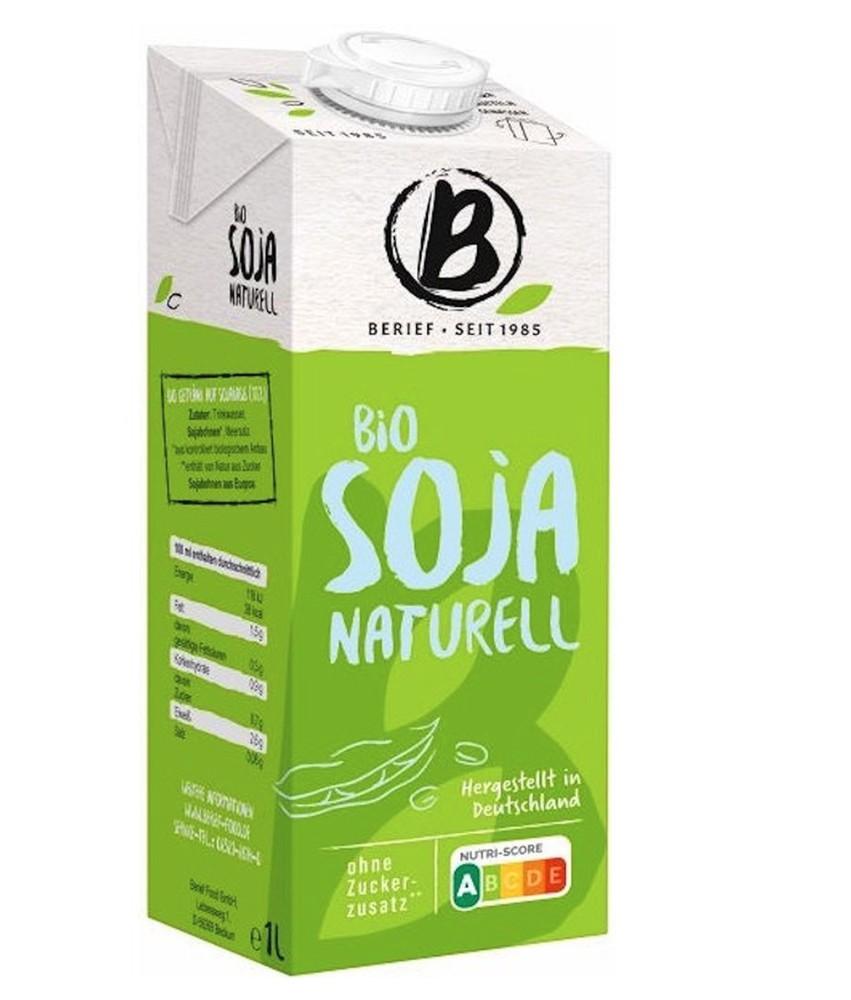 Alimento líquido de soya orgánico