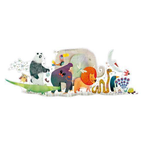 Puzzle gigante desfile de animales Contiene 36 Piezas.